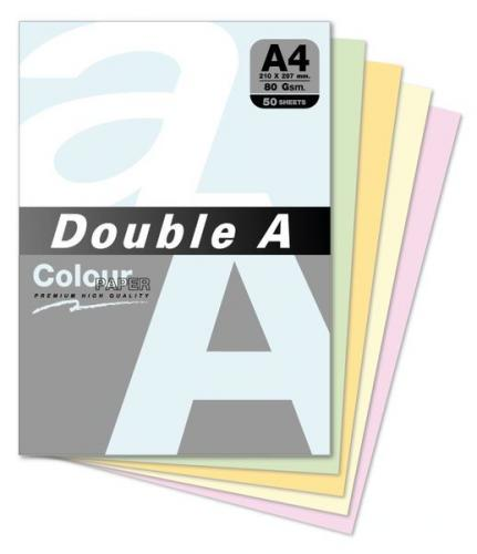 Double A 80gsm A4色紙(12色)/50張