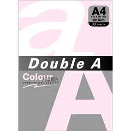 Double A 80gsm A4粉紅/25張 DACP11006