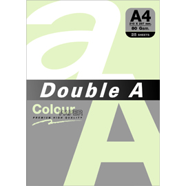 Double A 80gsm A4粉綠/25張 DACP11007